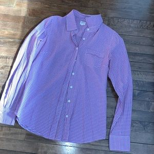 Purple gingham button down
